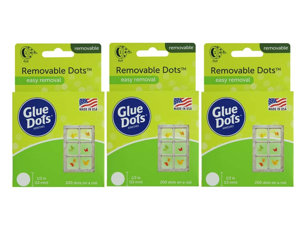 Glue Dots Roll Removable 1/2 in. 200 pc. (3 pack)