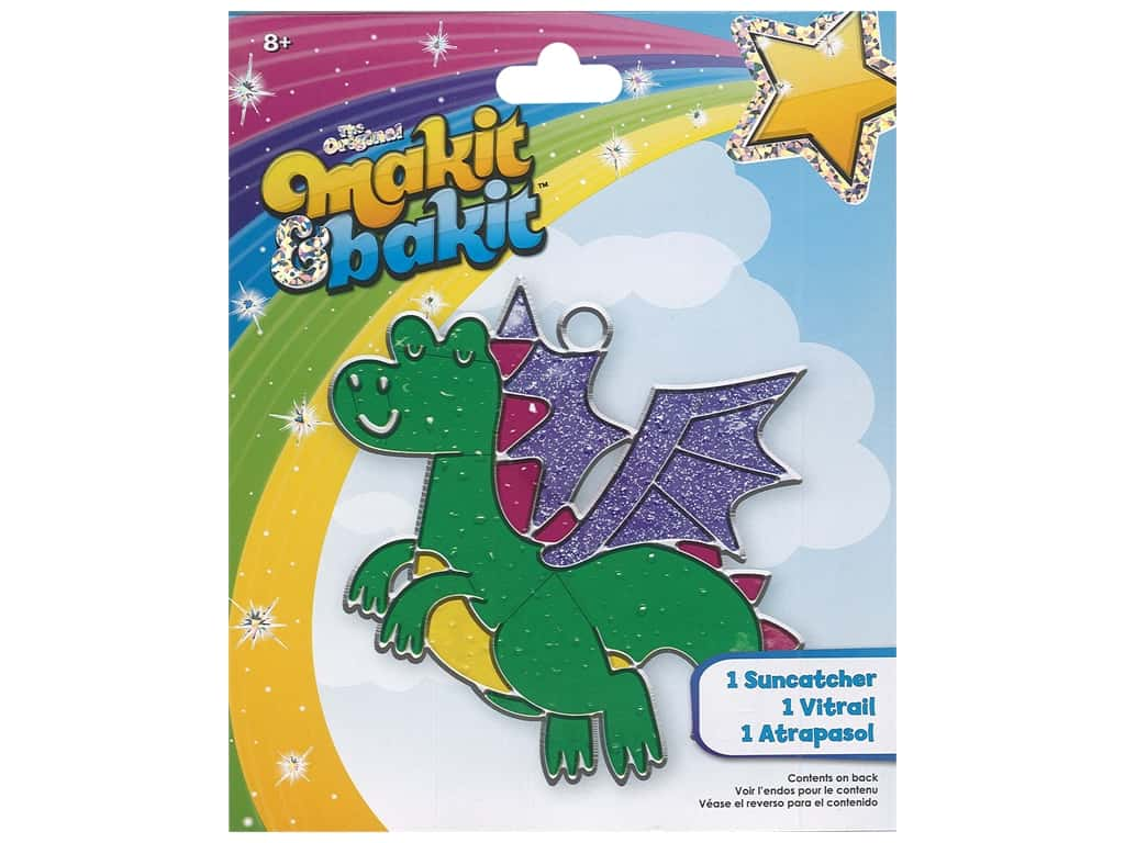 Colorbok Makit & Bakit Suncatcher Kit - Dragon