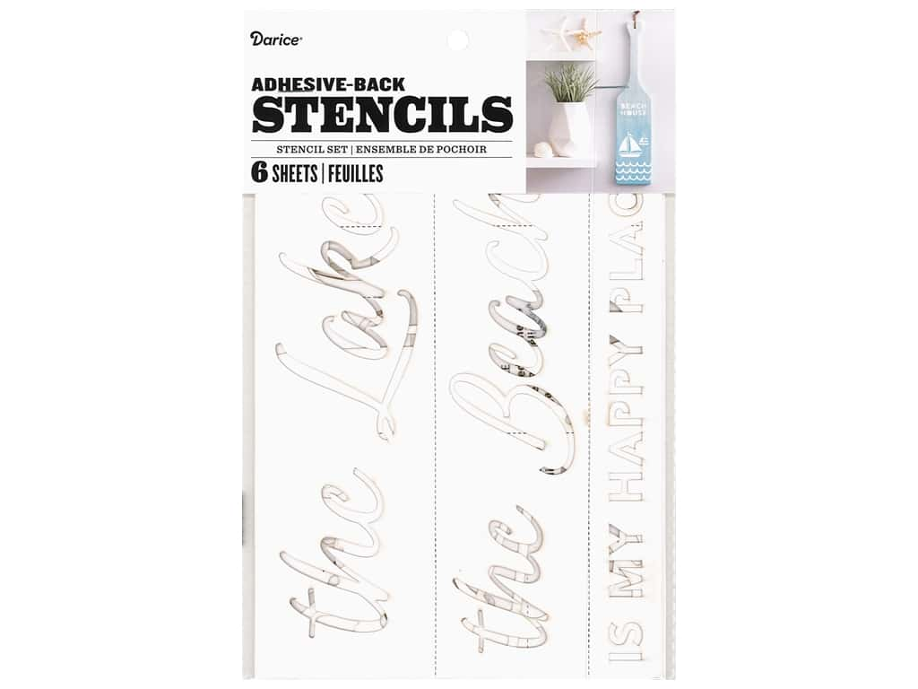 Darice Adhesive-Back Stencil - Small Nautical