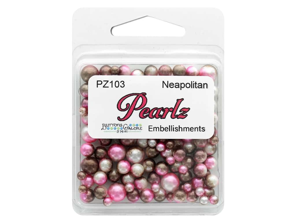 Buttons Galore Pearlz - Neapolitan (3 sets)