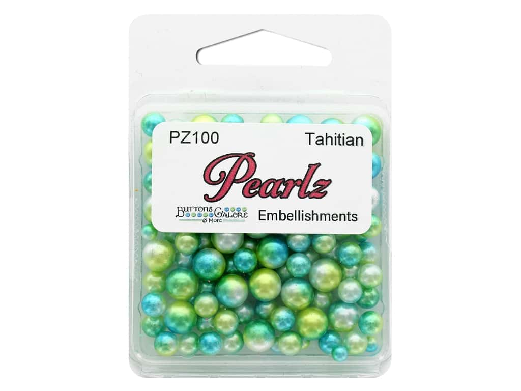 Buttons Galore Pearlz - Tahitian (3 sets)
