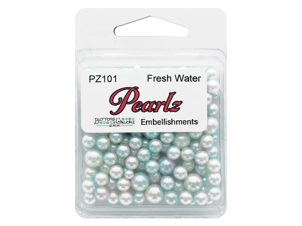 Buttons Galore Pearlz - Fresh Water (3 sets)