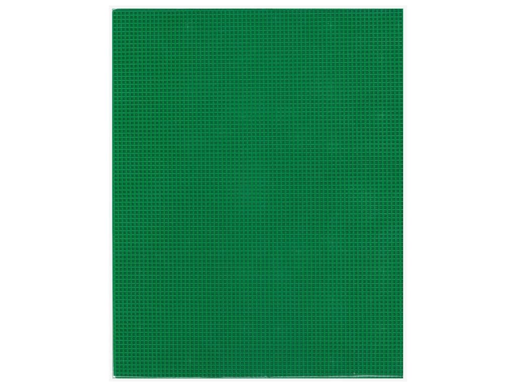 Essentials By Leisure Arts 7 Mesh Plastic Canvas - 10 5/8 x 13 1/2 in. Kelly Green 6 pc.