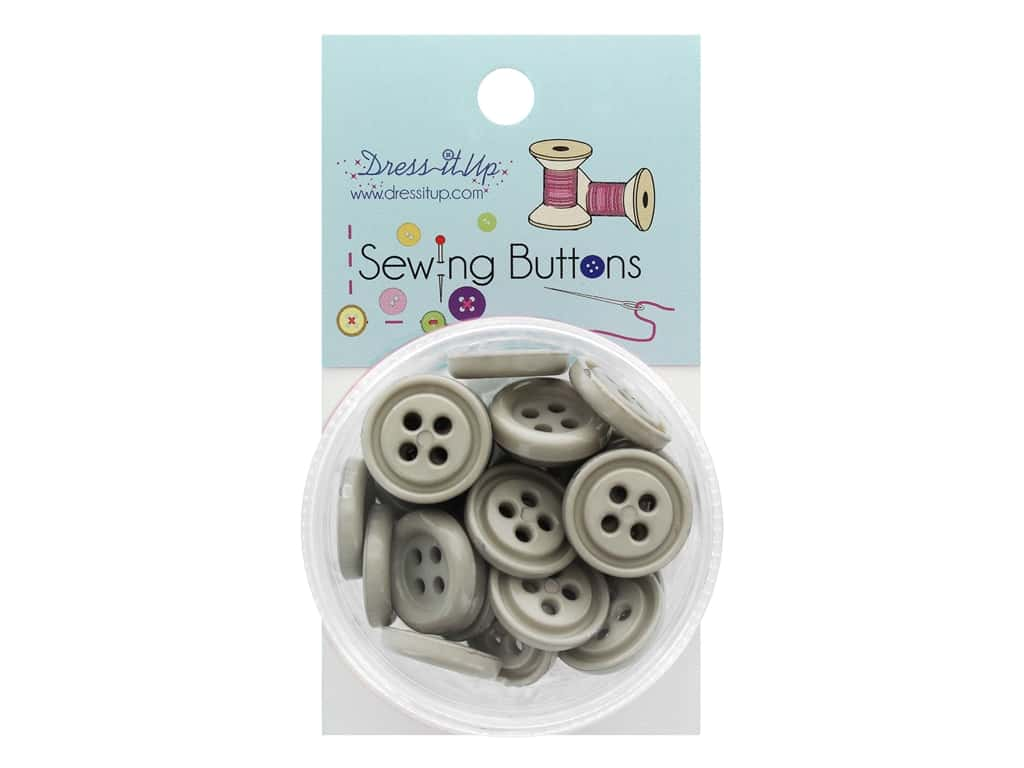 Jesse James Button Sewing 4 Hole Grey