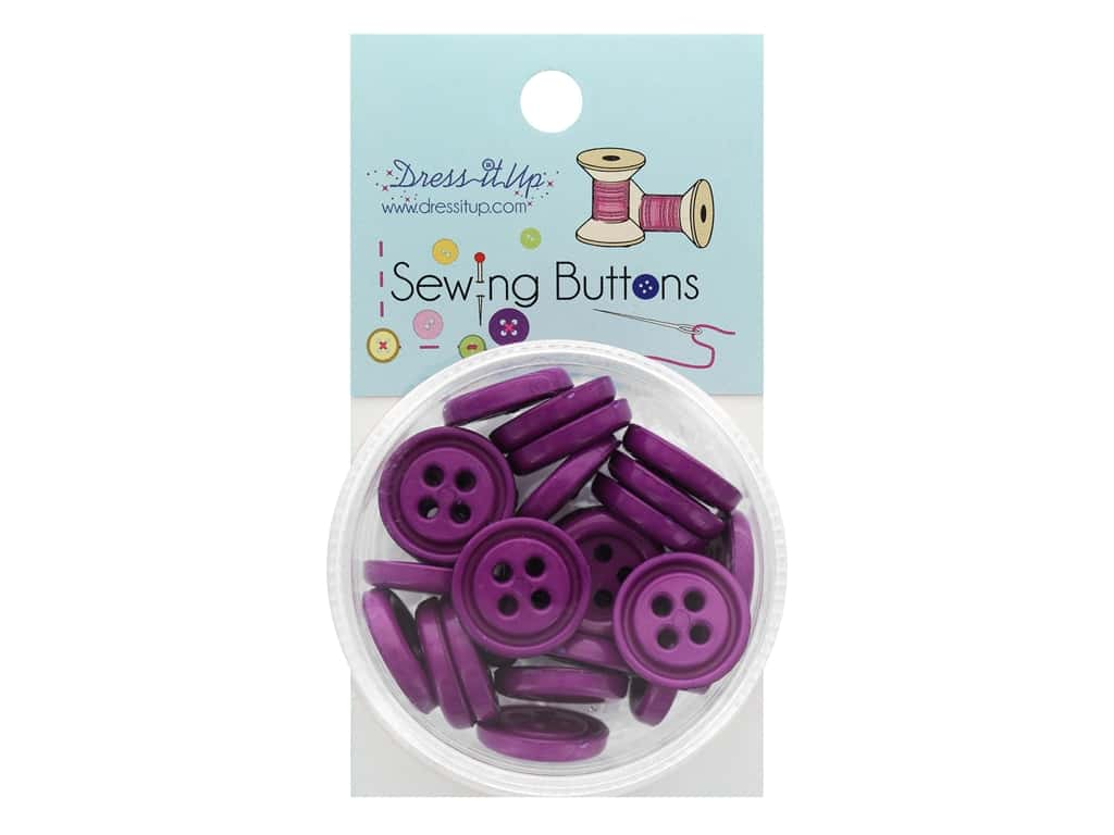 Jesse James Button Sewing 4 Hole Dark Lilac