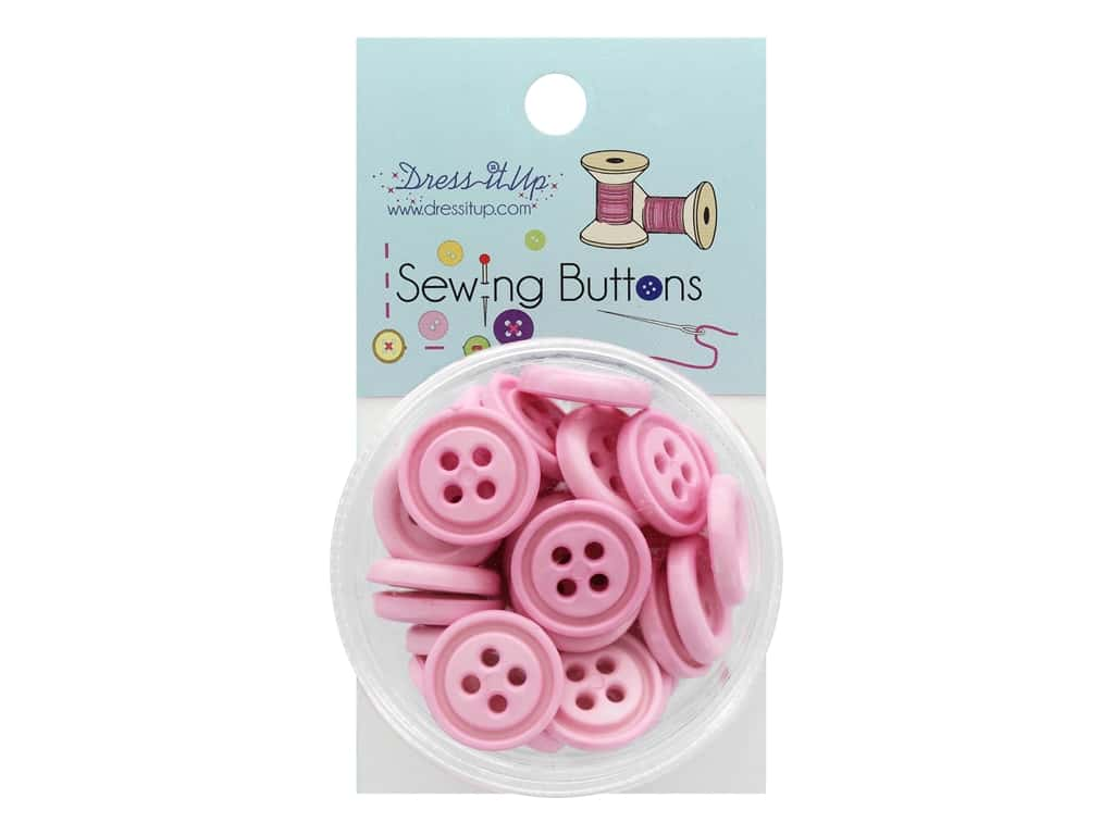 Jesse James Button Sewing 4 Hole Pink