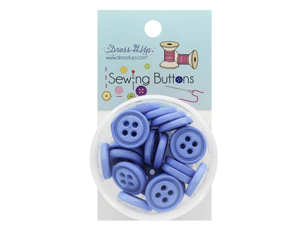 Jesse James Button Sewing 4 Hole Periwinkle