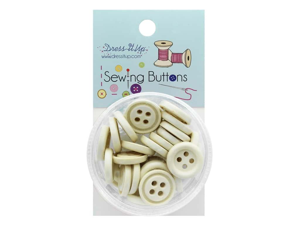 Jesse James Sewing Button - 4 Hole Ivory