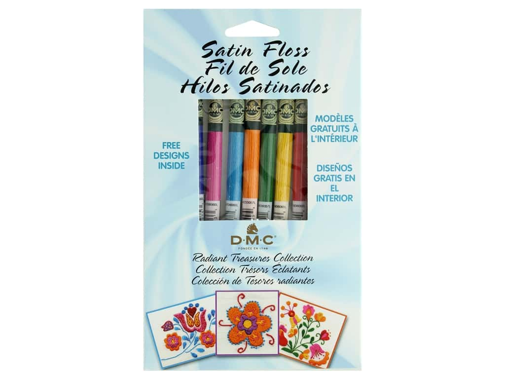 DMC Embroidery Floss Pack Satin Radiant Treasures Collection