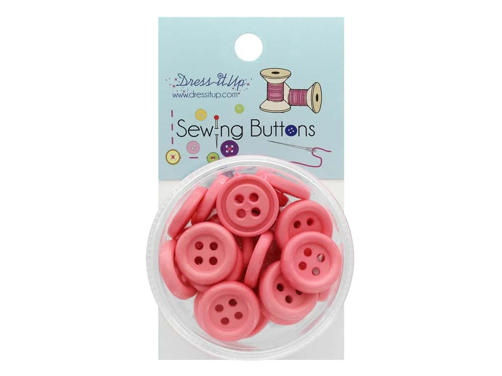 Jesse James Button Sewing 4 Hole Ballet Pink
