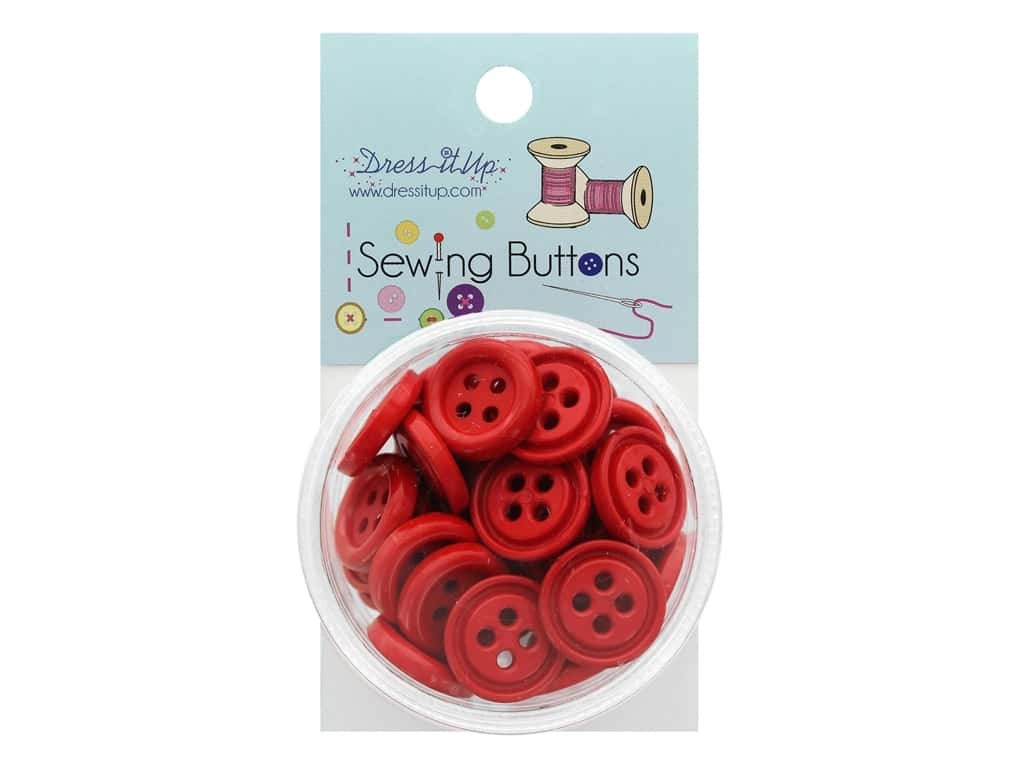 Jesse James Button Sewing 4 Hole Red