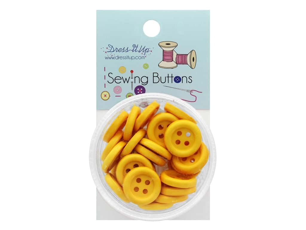 Jesse James Button Sewing 4 Hole Golden Yellow