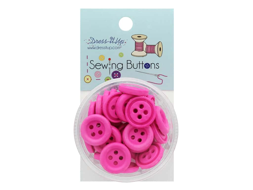 Jesse James Button Sewing 4 Hole Bright Pink