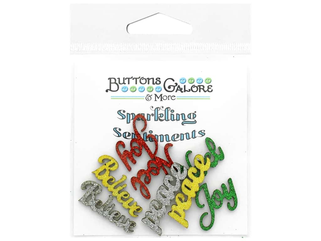 Buttons Galore Sparkling Sentiments - Noel (3 sets)