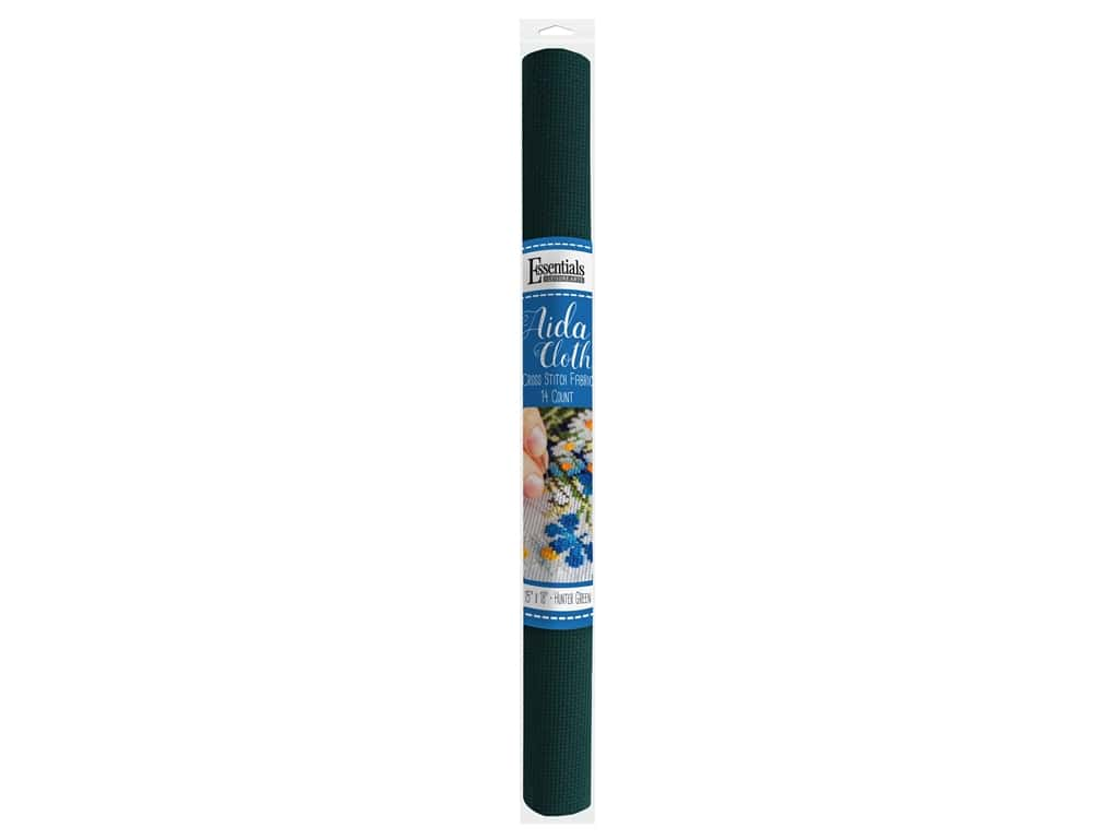 Essentials By Leisure Arts Aida Cloth 14 ct 15 in. x 18 in. Hunter Green