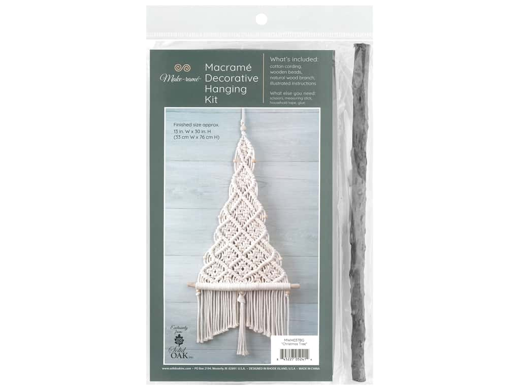 Solid Oak Kit Macrame Wall Hanging Christmas Tree