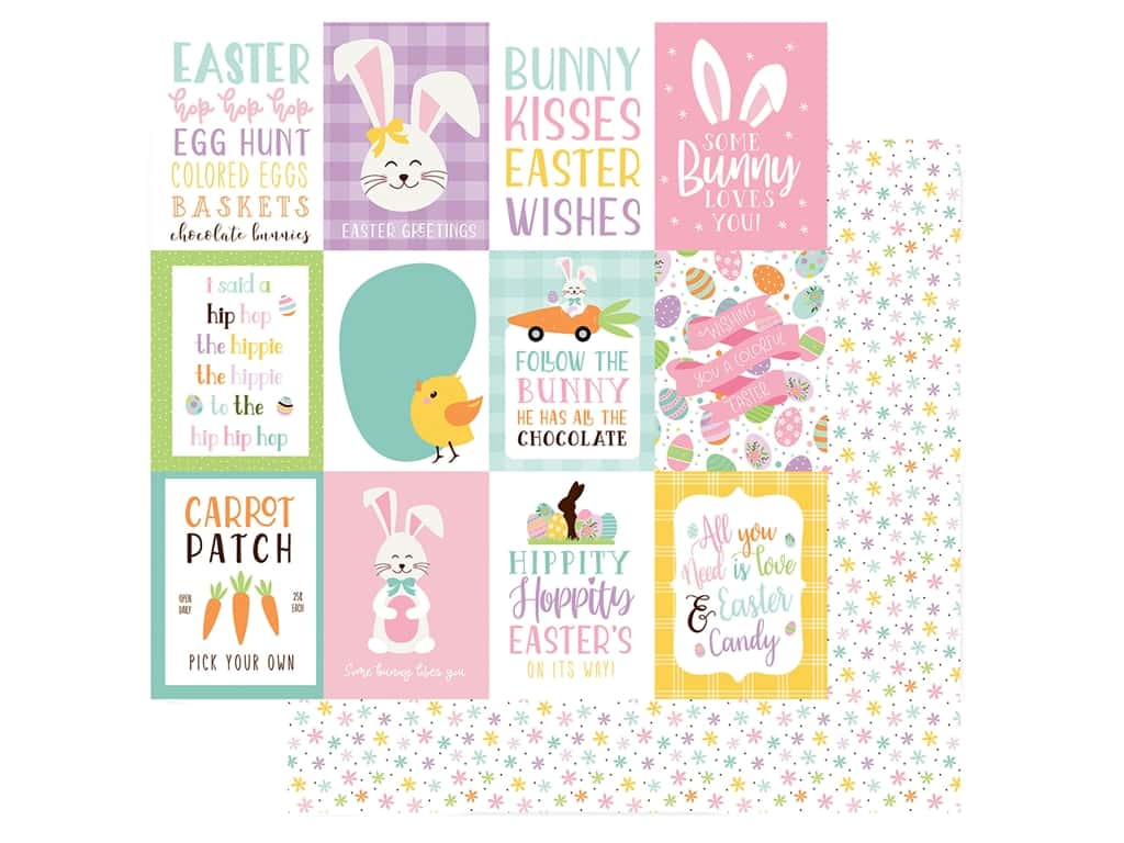 Echo Park Collection Welcome Easter Paper 12 in. x 12 in. Journal 3 in. x 4 in. (25 pieces)