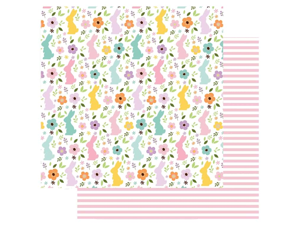 Echo Park Collection Welcome Easter Paper 12 in. x 12 in. Bunny Field (25 pieces)