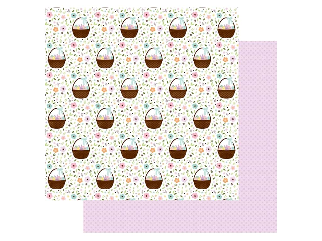 Echo Park Collection Welcome Easter Paper 12 in. x 12 in. Baskets Of Fun (25 pieces)