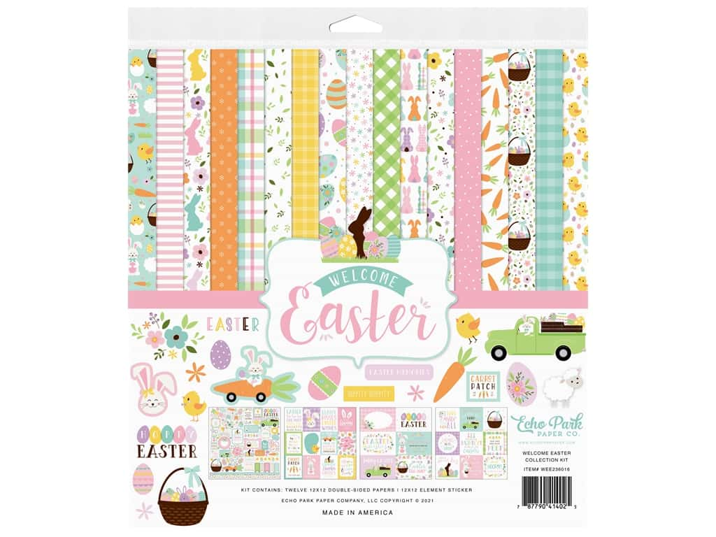 Echo Park Collection Welcome Easter Collection Kit 12 in. x 12 in.