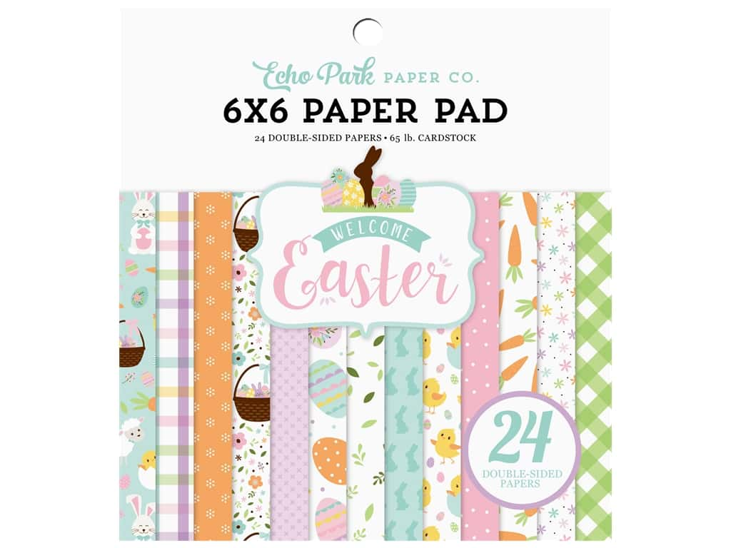 Echo Park Collection Welcome Easter Paper Pad 6 in. x 6 in.