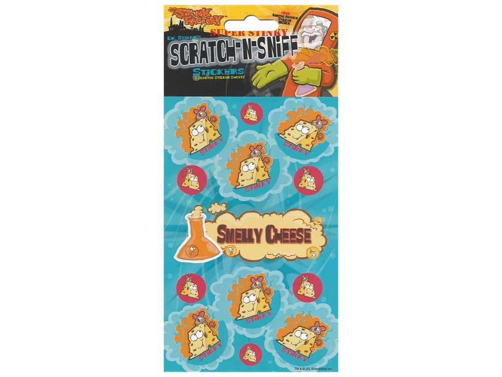 Just For Laughs Scratch-n-Sniff Stickers - Smelly Cheese