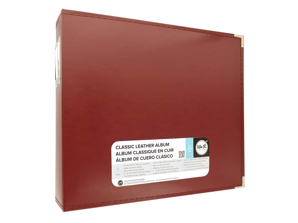 We R Memory Album 12 in. x 12 in. Leather D-Ring Wine