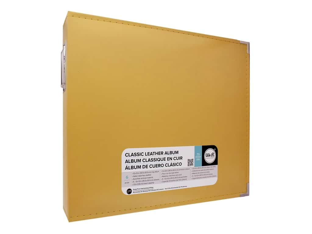 We R Memory Album  12 in. x 12 in. Leather D-Ring Buttercup