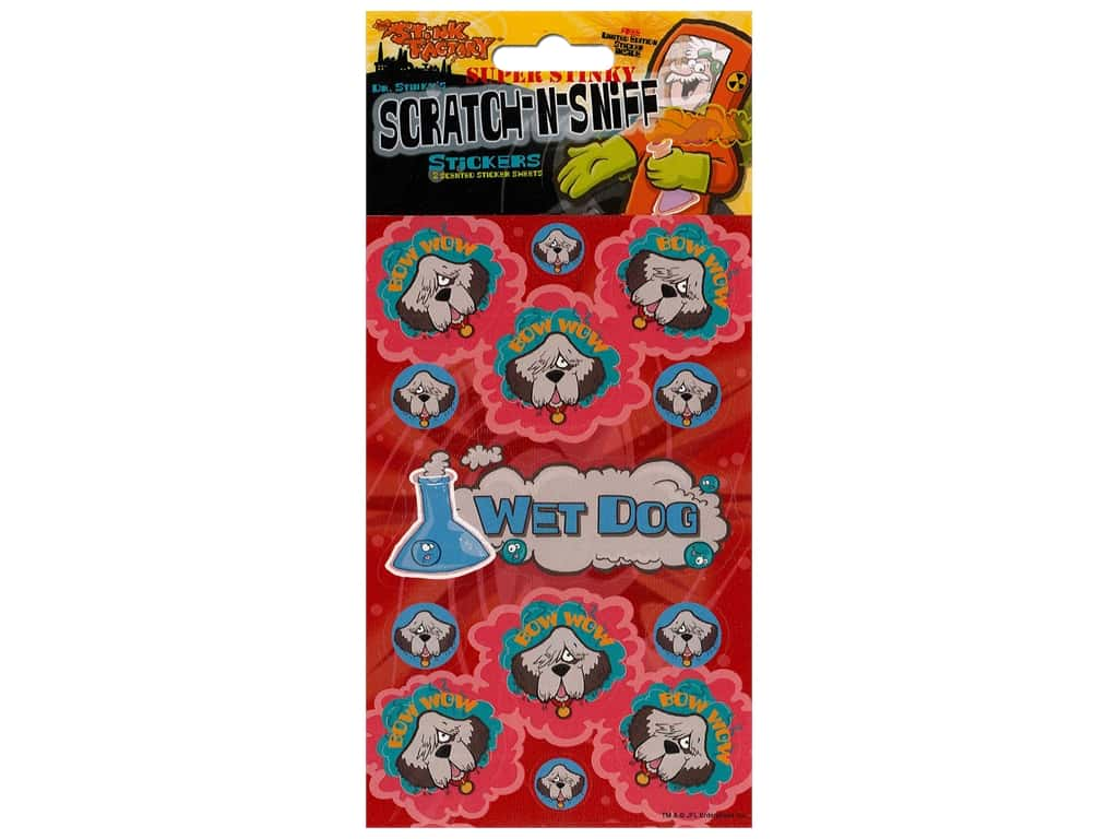 Just For Laughs Scratch-n-Sniff Stickers - Wet Dog
