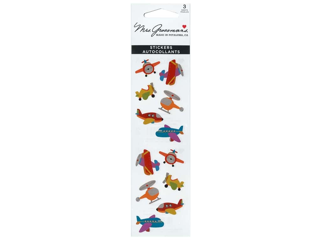 Mrs Grossman's Stickers - Chubby Airplanes