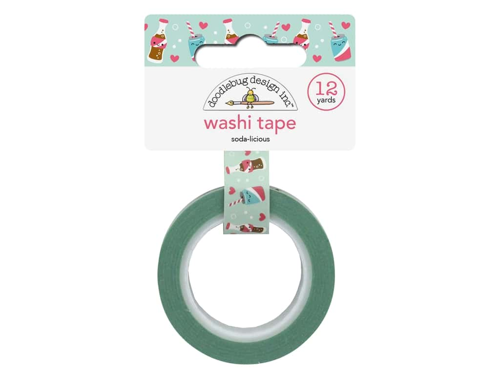 Doodlebug Collection So Punny Washi Tape Soda-licious