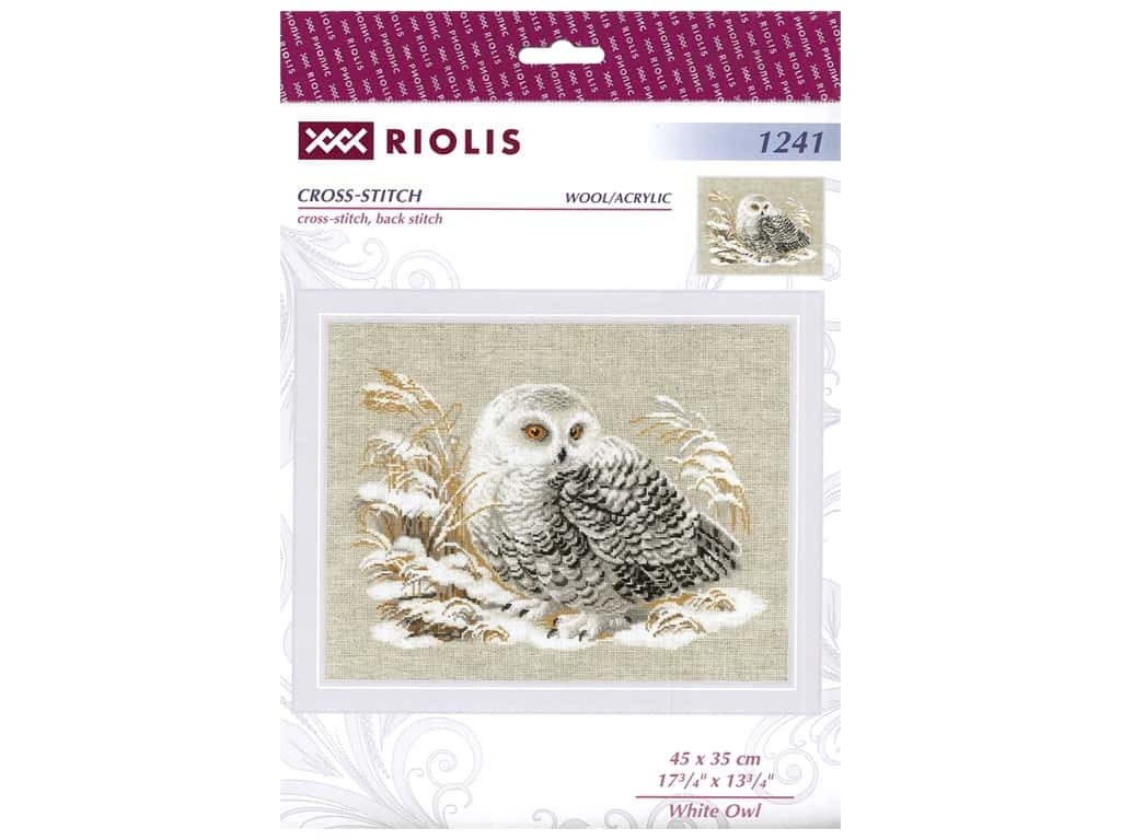 Riolis Cross Stitch Kit White Owl