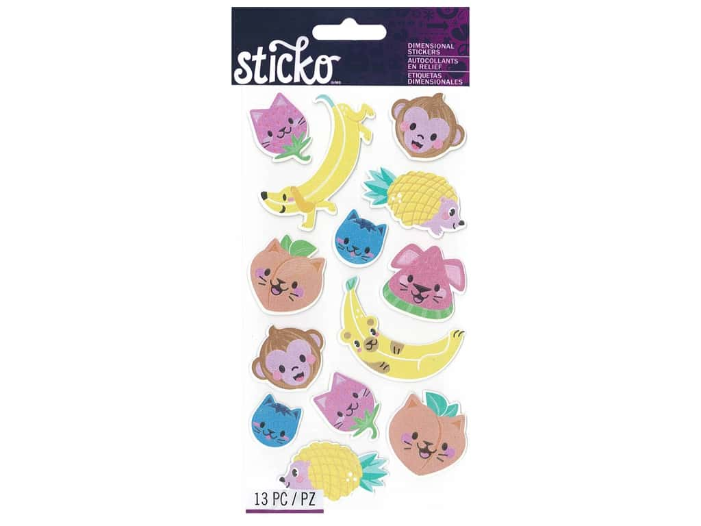 Sticko Dimensional Stickers - Classic Fruit Animals