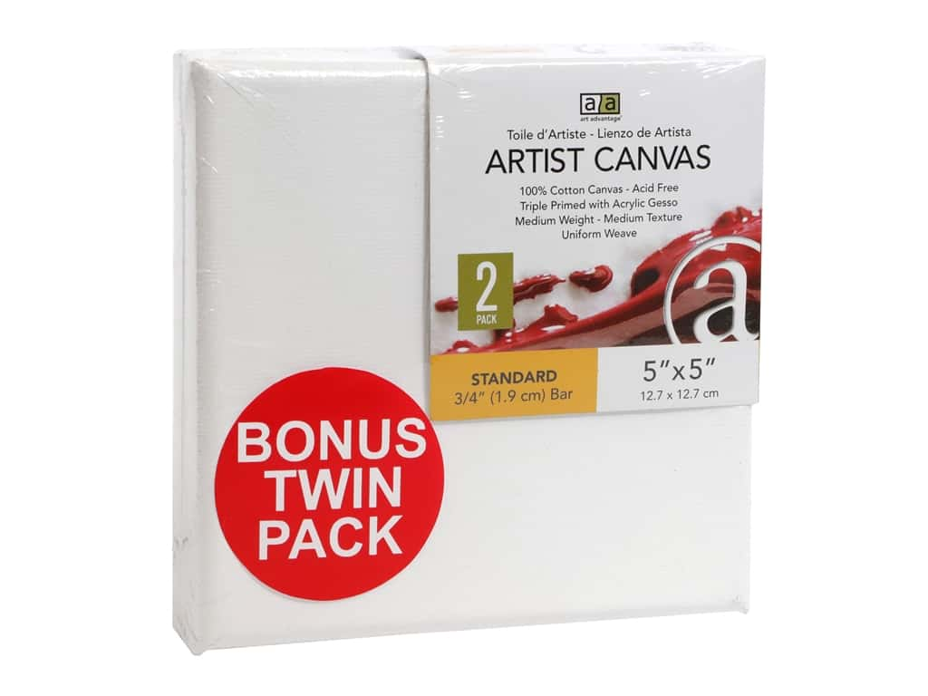 Art Advantage Artist Canvas 5 x 5 in. Twin Pack