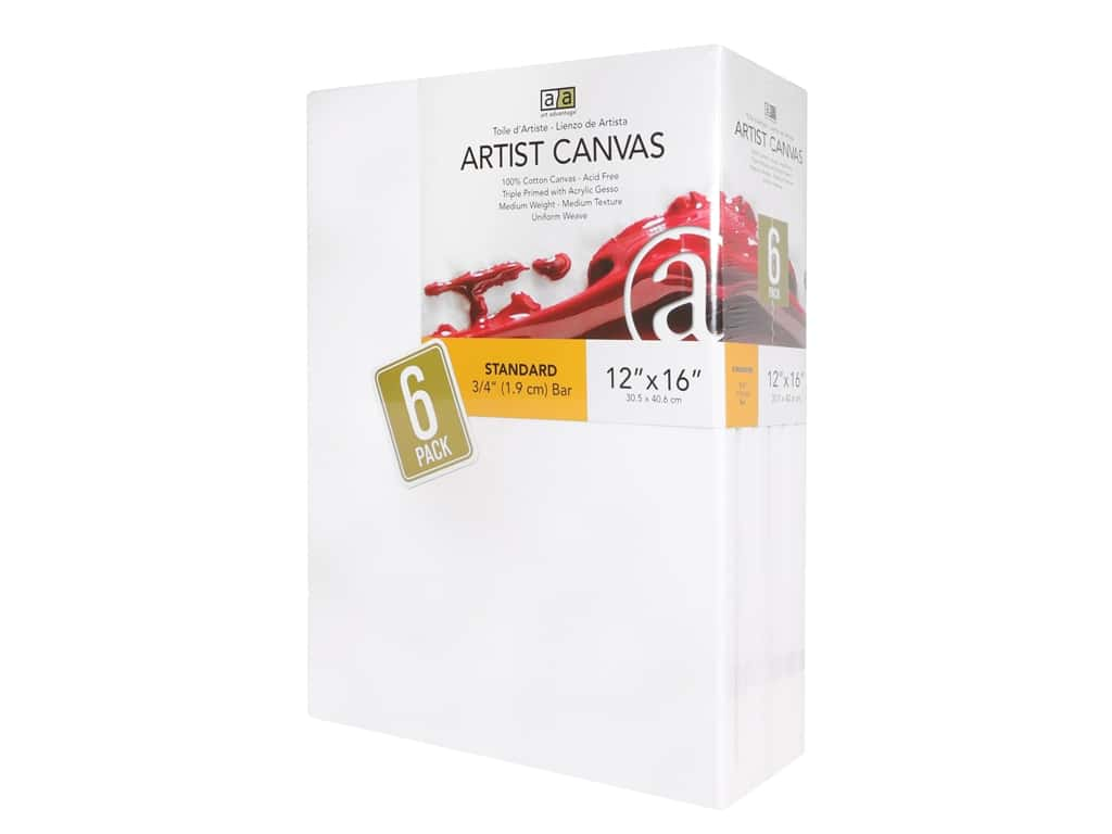 Art Advantage Artist Canvas 12 x 16 in. 6 pc.