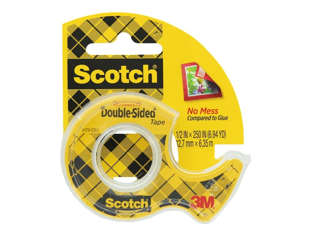 Scotch Double-Sided Permanent Tape - 1/2 x 250 in.
