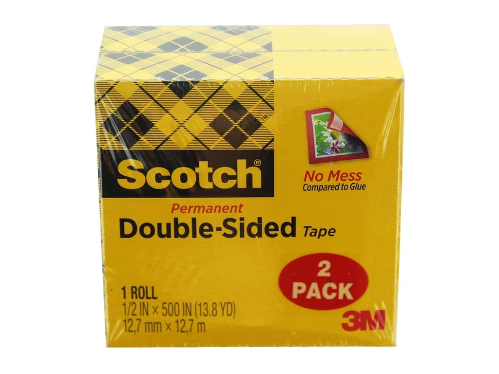 Scotch Double-Sided Permanent Tape - 1/2 x 500 in. Refill 2 pc.