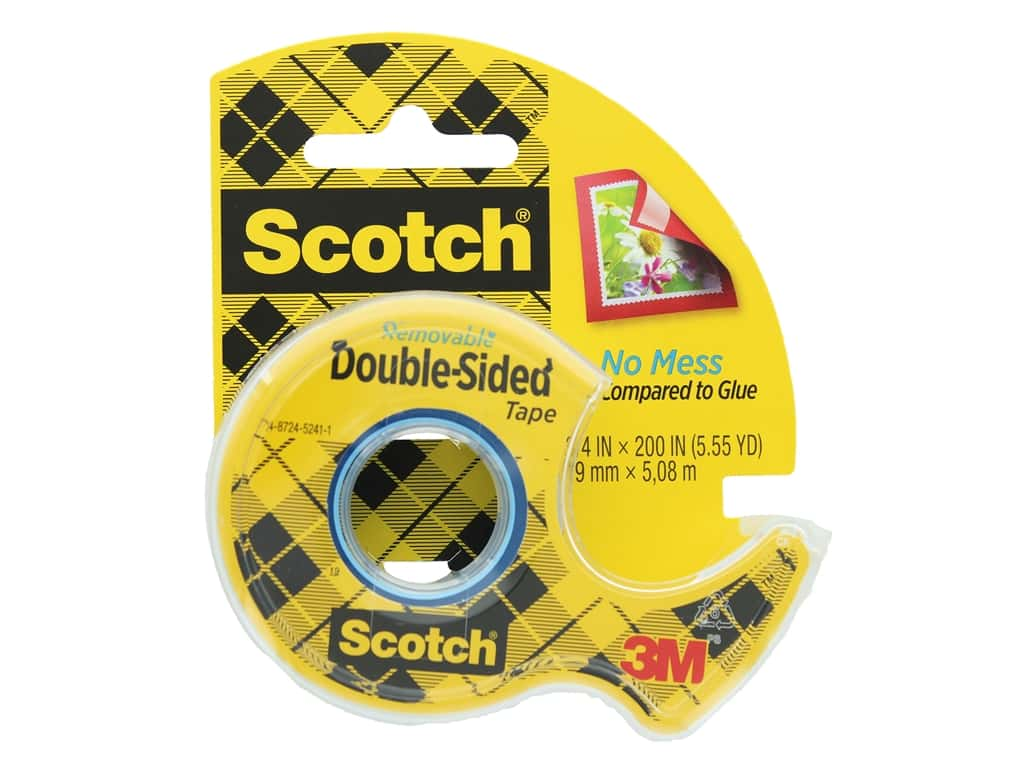 Scotch Double-Sided Removable Tape - 3/4 x 200 in.