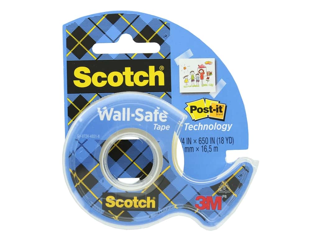 Scotch Wall-Safe Tape - 3/4 x 650 in.
