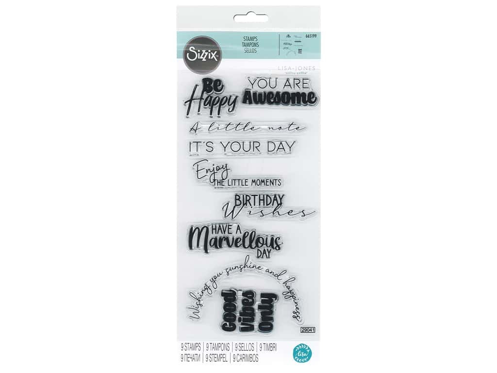 Sizzix Stamp Lisa Jones Clear Everyday Sentiments #2