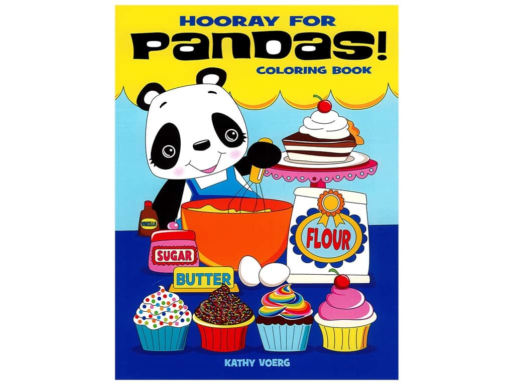 Dover Publications Hooray For Pandas! Coloring Book