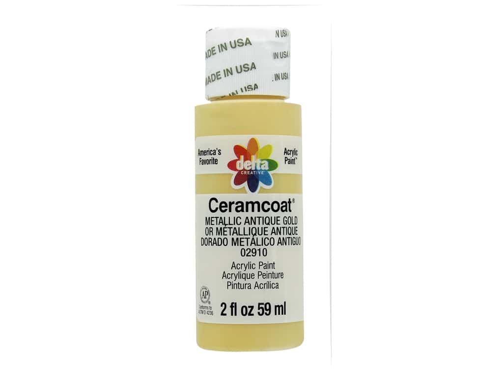 Delta Ceramcoat Acrylic Paint - #2910 Metallic Antique Gold 2 oz.