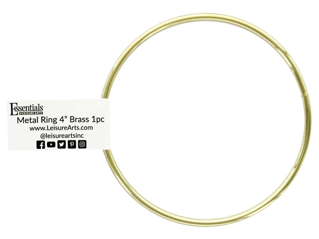 Essentials By Leisure Arts Metal Ring 4 in. Brass (10 pieces)