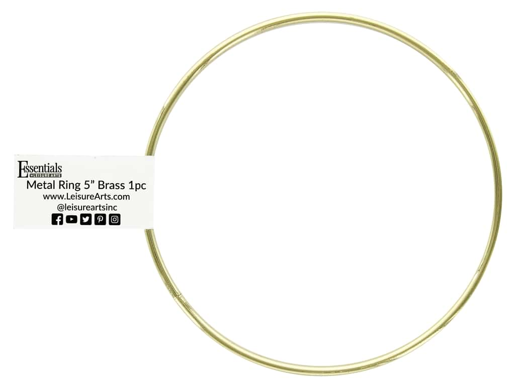 Essentials By Leisure Arts Metal Ring 5 in. Brass (10 pieces)