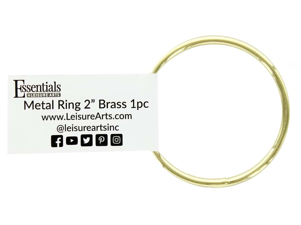 Essentials By Leisure Arts Metal Ring 2 in. Brass (10 pieces)