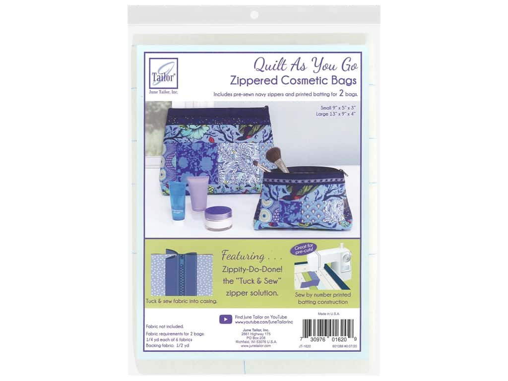 June Tailor Kit Zippity Do Done Cosmetic Bag With Navy Zip
