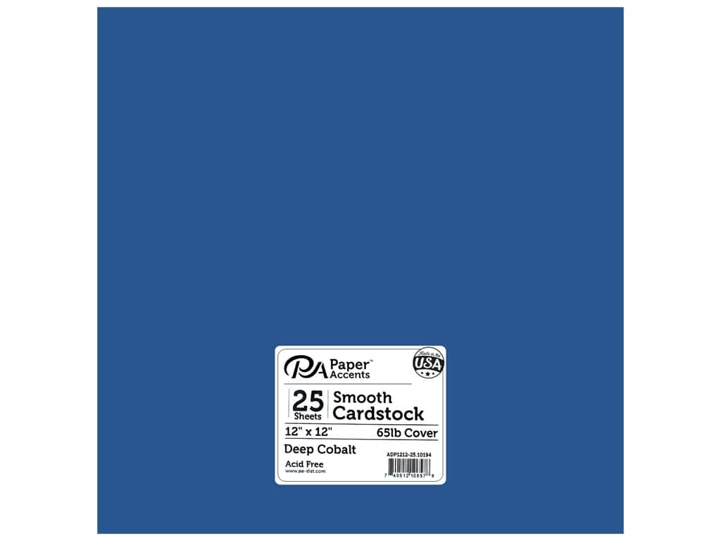 Paper Accents Cardstock 12 in. x 12 in. Smooth 65 lb Deep Cobalt 25 pc