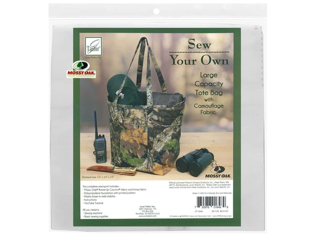 June Tailor Kit Sew Your Own Break Up Large Capacity Tote