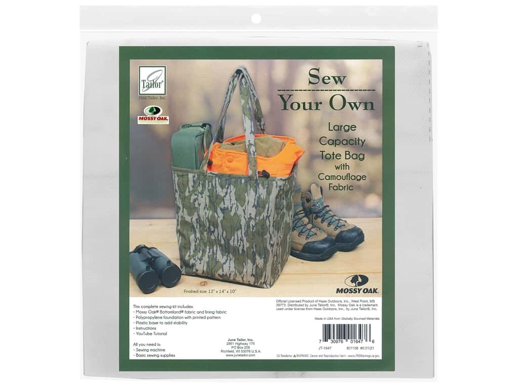 June Tailor Kit Sew Your Own Bottomland Large Capacity Tote