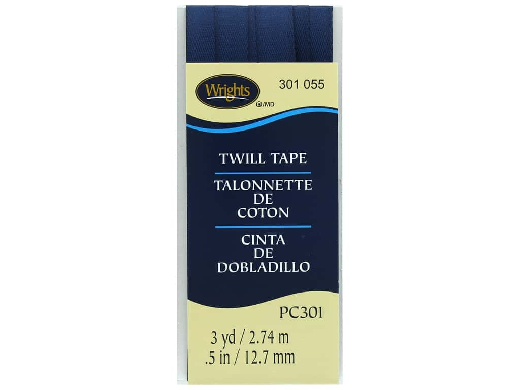 Wrights Twill Tape 1/2 in. x 3 yd. Navy